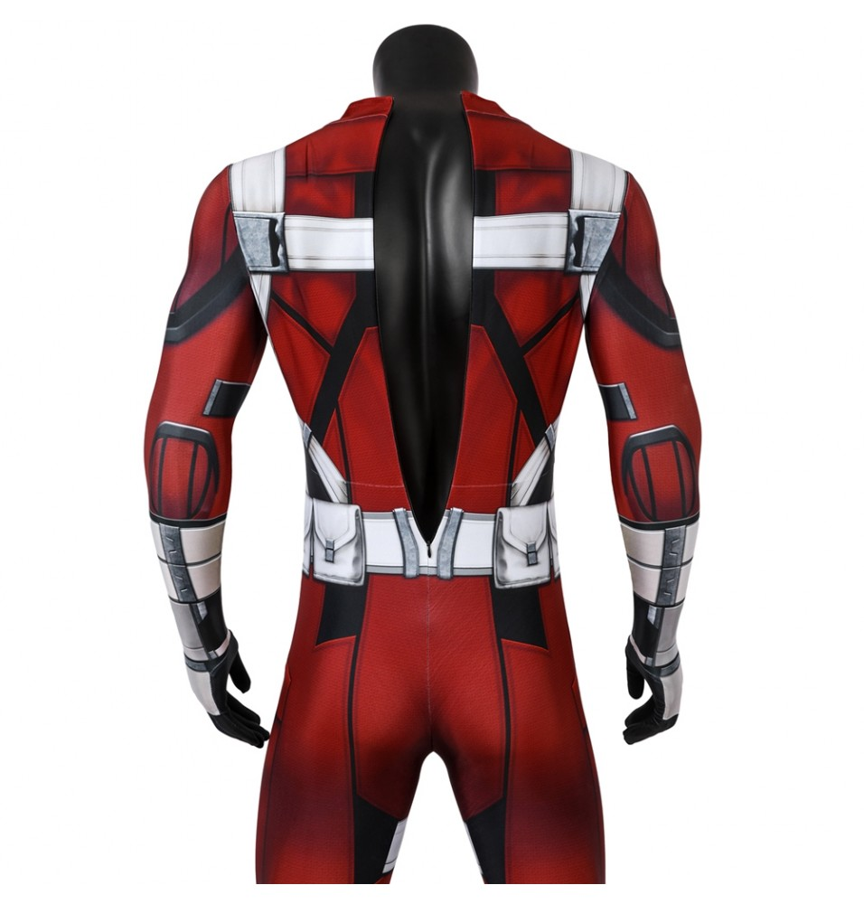 Black Widow Red Guardian 3D Printed Jumpsuit