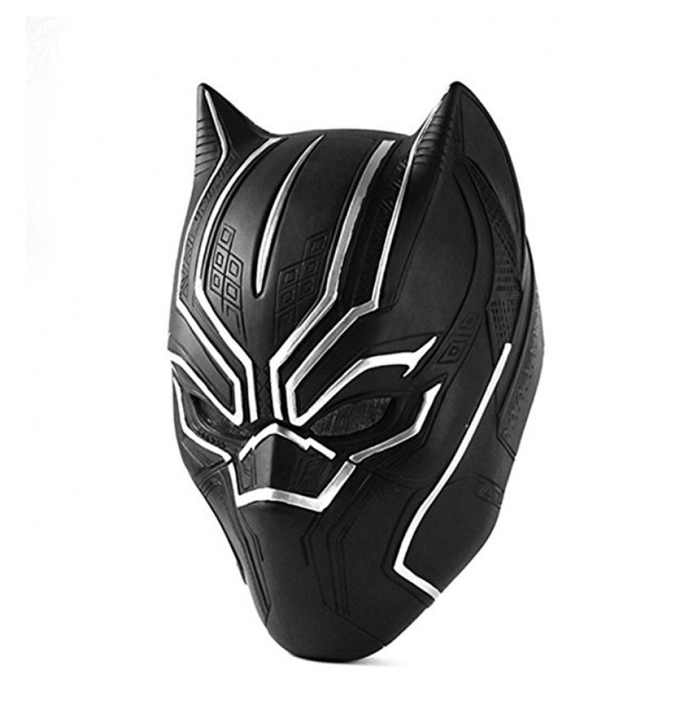 Captain America Civil War Black Panther Adult Latex Mask Halloween Cosplay Helmet