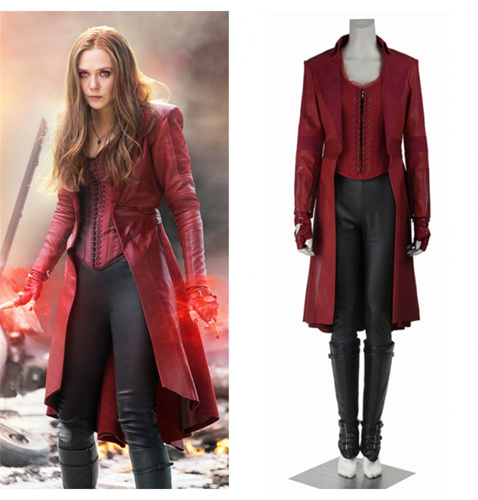 Captain America Civil War Scarlet Witch Wanda Maximoff Cosplay Costume