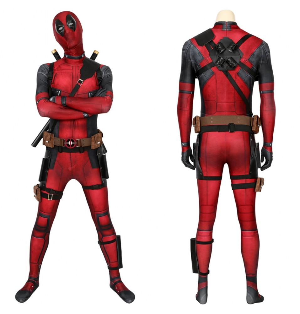Deadpool Wade Wilson 3D Jumpsuit Full Set