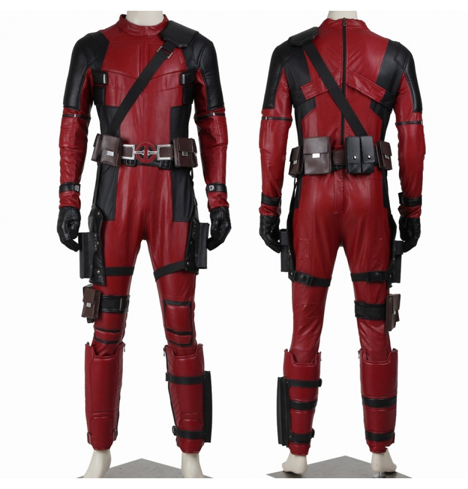 Deadpool Wade Wilson Cosplay Costume Deluxe Version