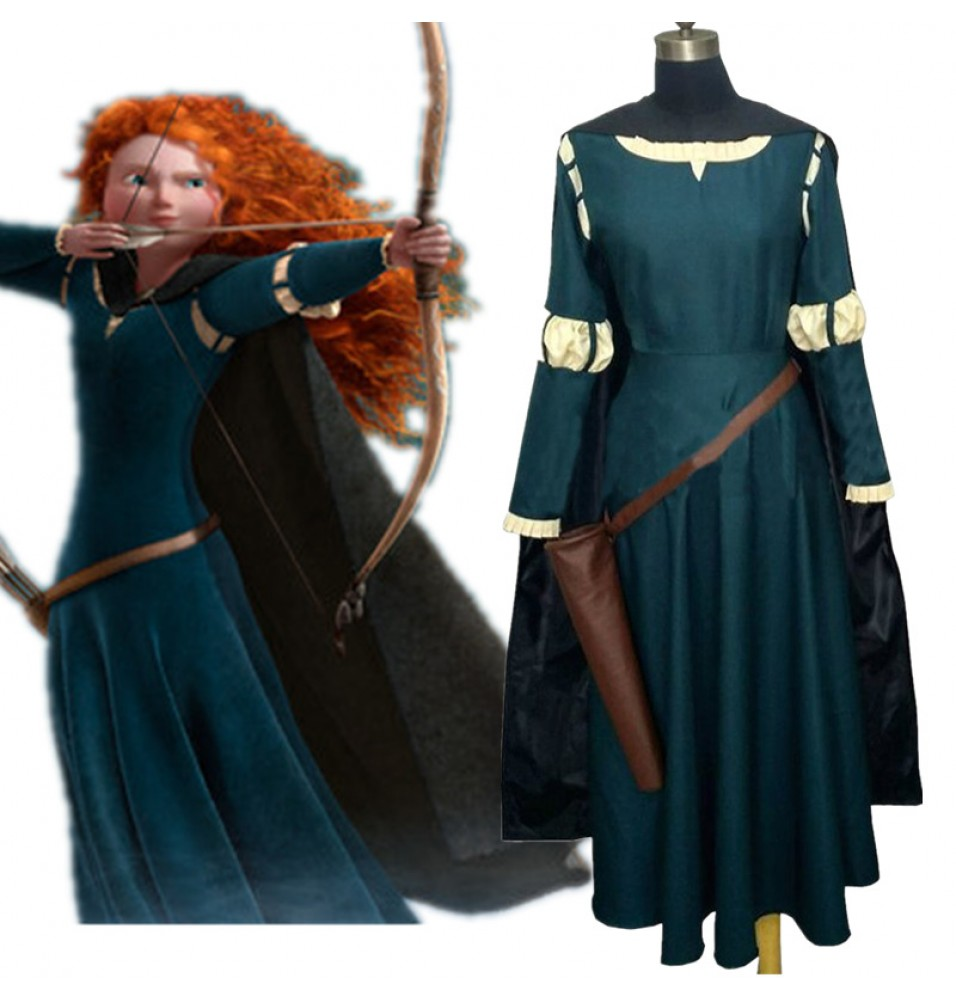 Disney Brave Princess Merida Dress Cosplay Costume