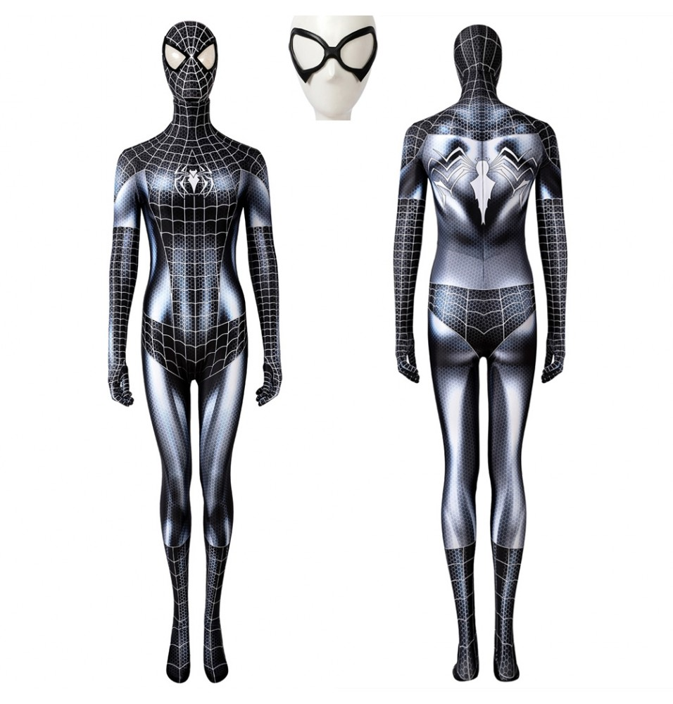 Female Spiderman Black Cat Venom 3D Jumpsuit