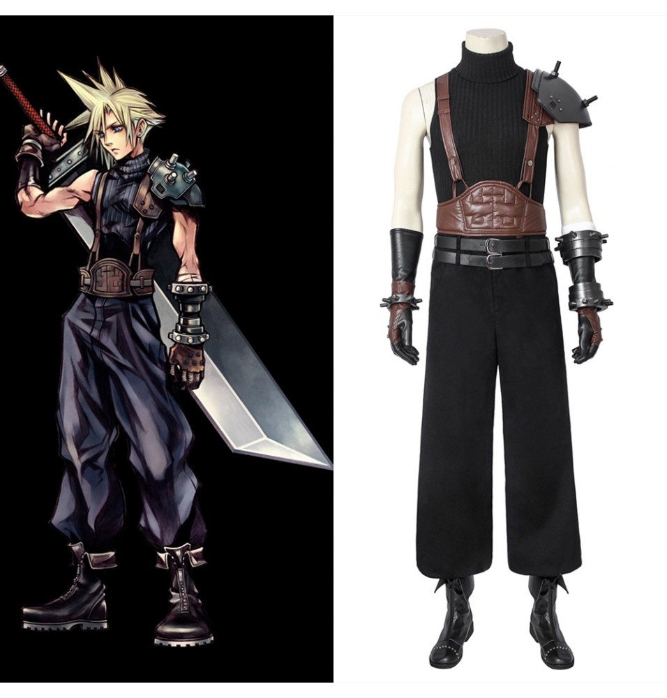 Final Fantasy VII FF7 PS4 Game Cloud Strife Cosplay Costume