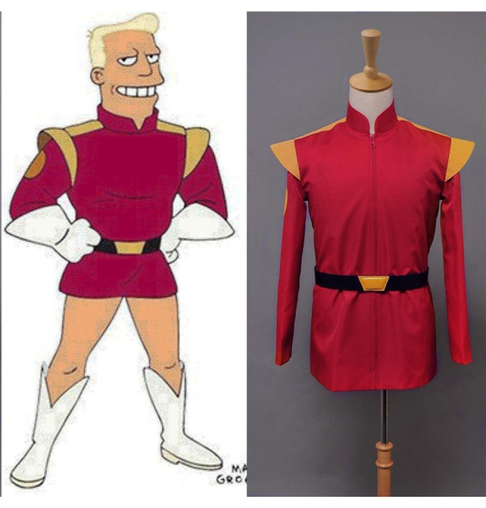 Futurama Captain Zapp Brannigan Red Uniform Outfit Cosplay Costume