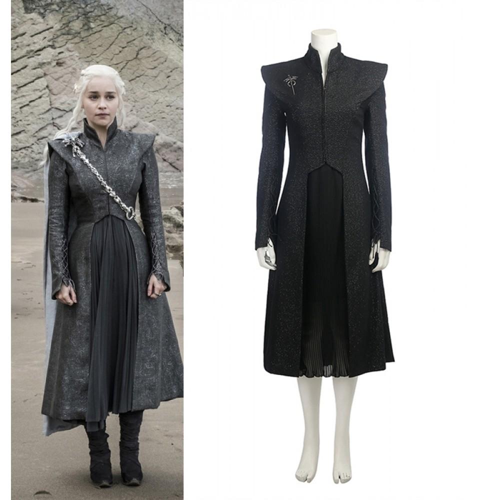 Game of Thrones 7 Mother of Dragons Daenerys Targaryen Cosplay Costume