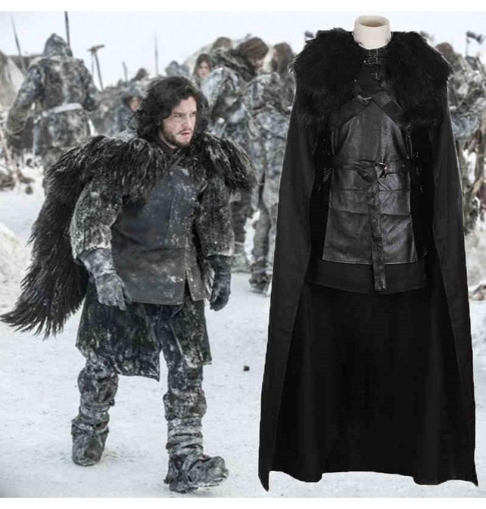 Game of Thrones Night's Watch Jon Snow Cosplay Costume Outfit