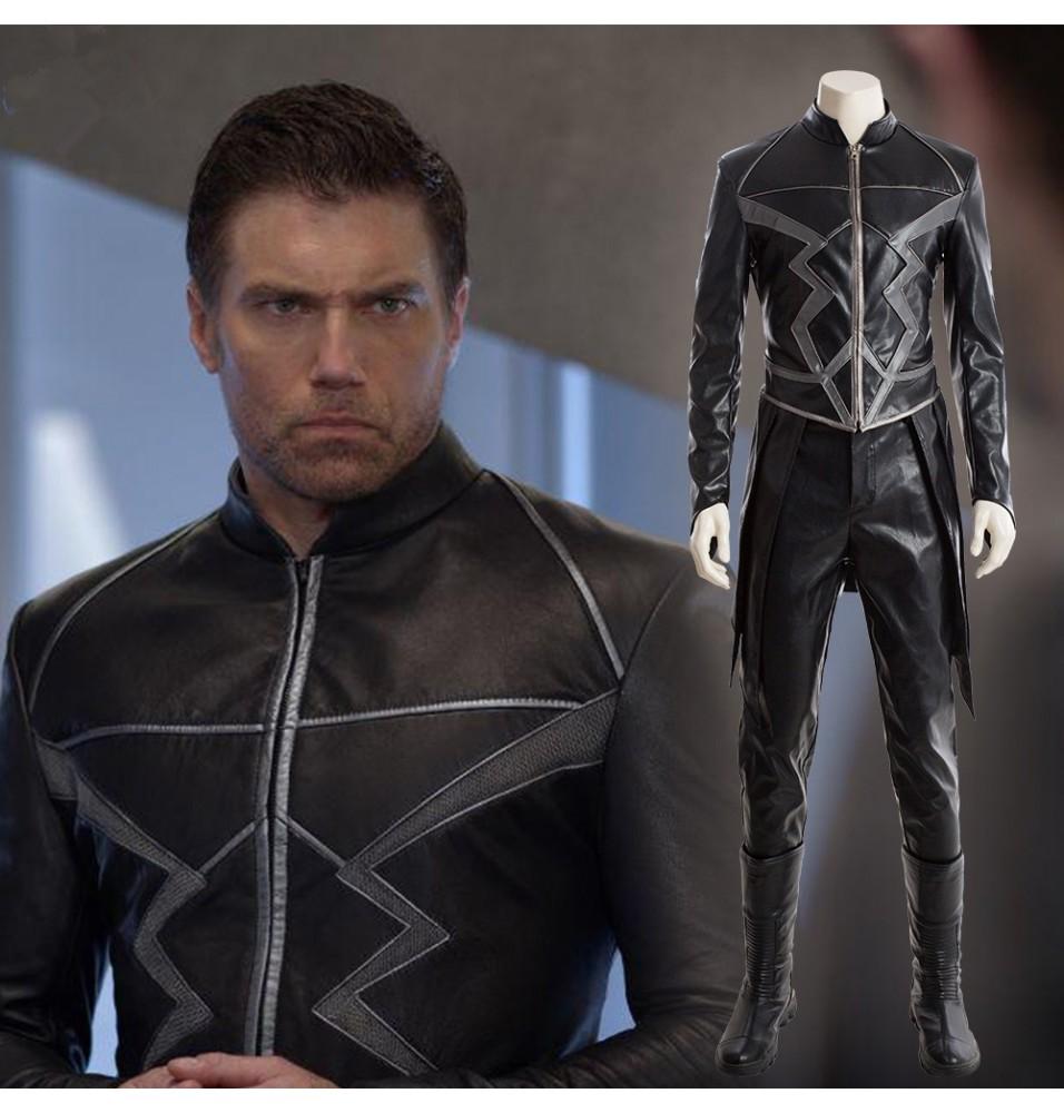 Marvel Inhumans Black Bolt Cosplay Costume