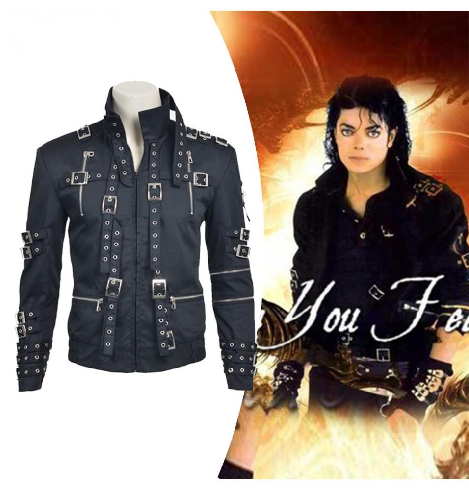 Michael Jackson Men's Black Jacket Cosplay Costume