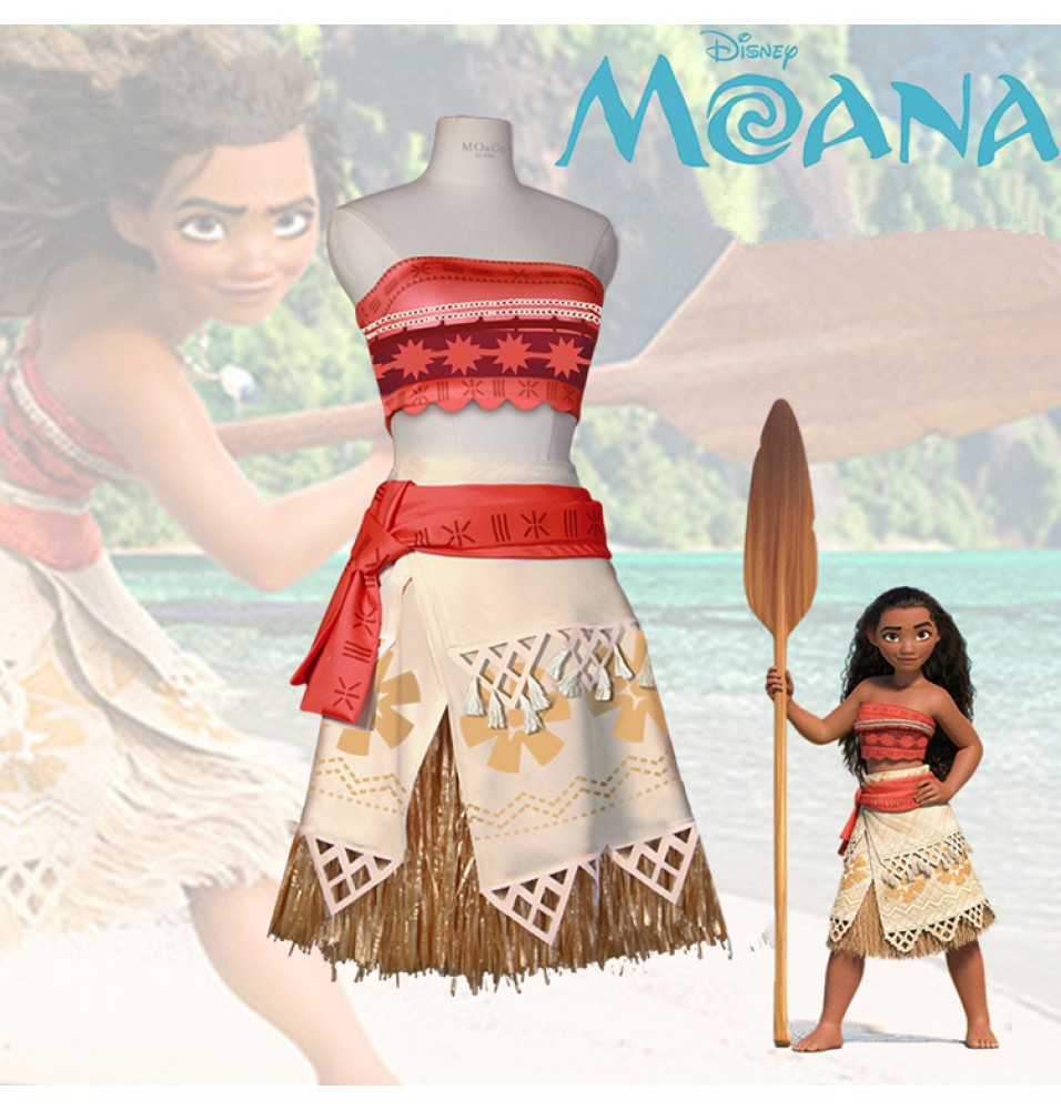 Disney Moana Princess Dress Cosplay Costume Kids Adults Party Costumes