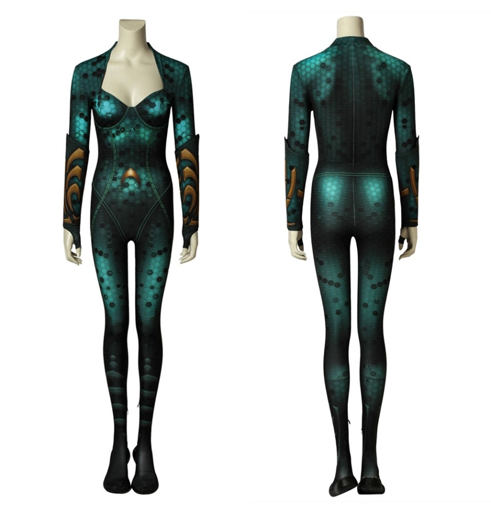 Movie Aquaman Mera 3D Zentai Jumpsuit