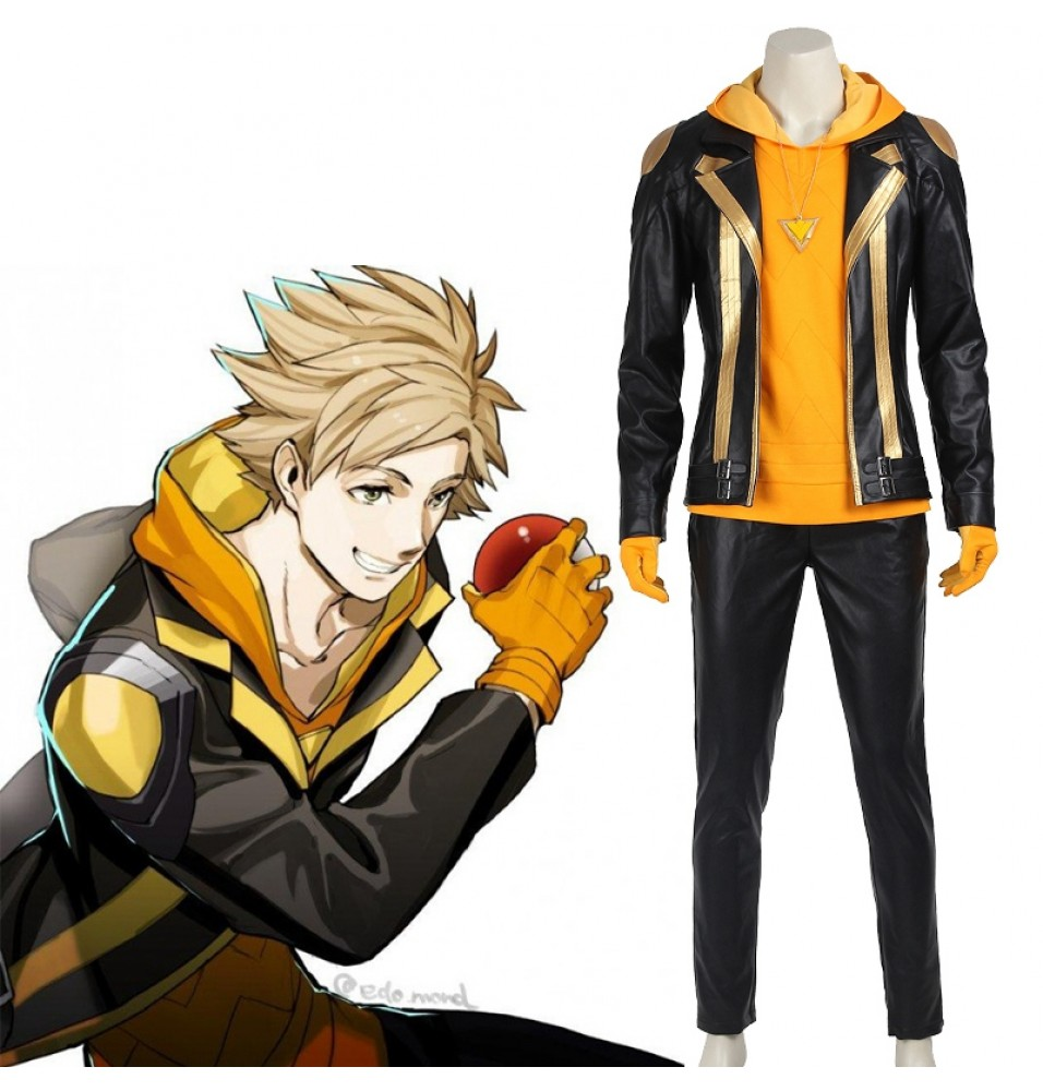 Pokemon Go Team Instinct Spark Cosplay Costume Outfit