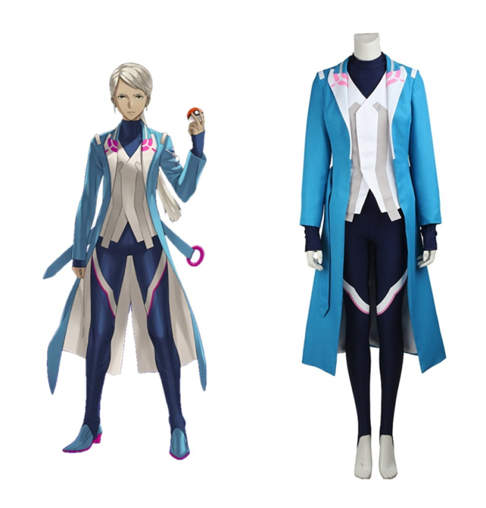 Pokemon Go Team Mystic Blanche Cosplay Costume Outfit