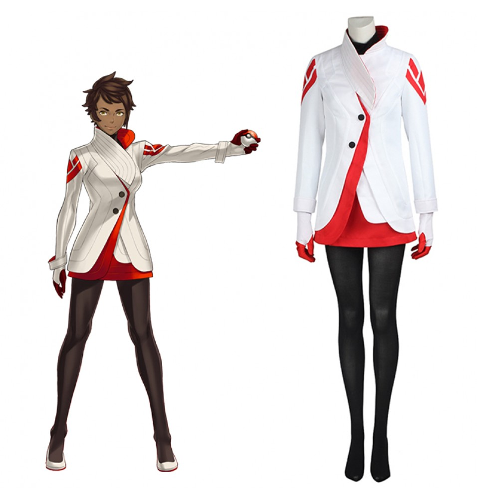 Pokemon Go Team Valor Candela Cosplay Costume Outfit
