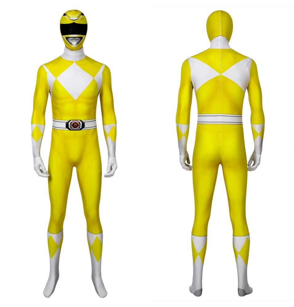 Power Rangers Boy Tiger Ranger Male 3D Jumpsuit