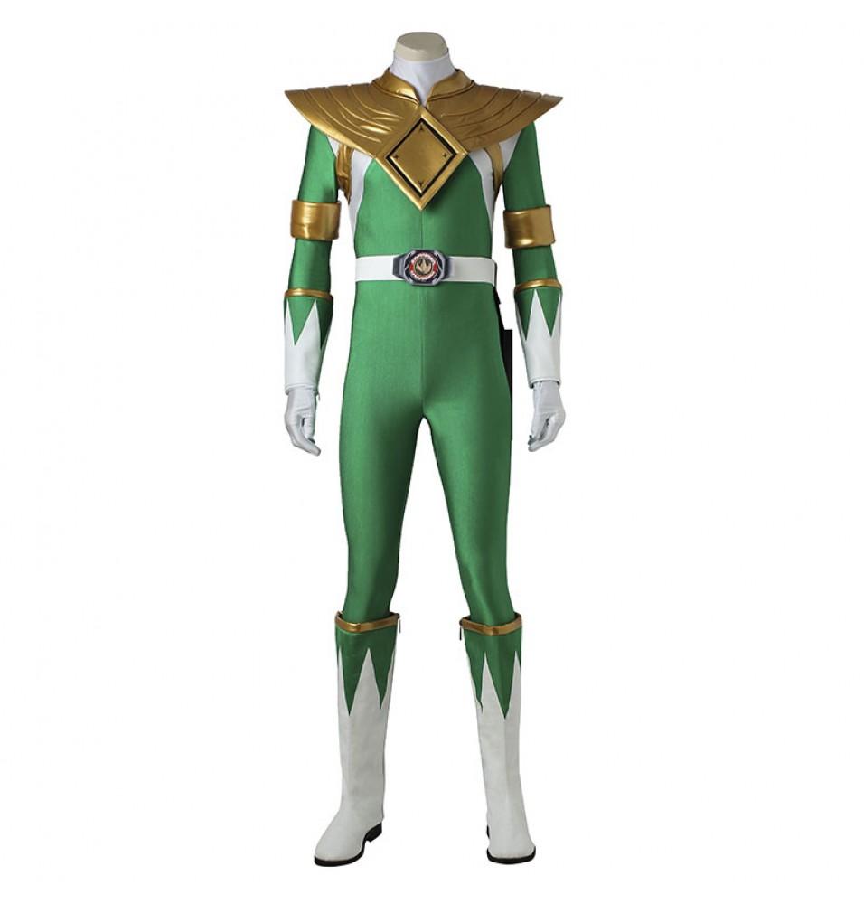 Power Rangers Green Jumpsuits Zyuranger Dragon Green Ranger Costume