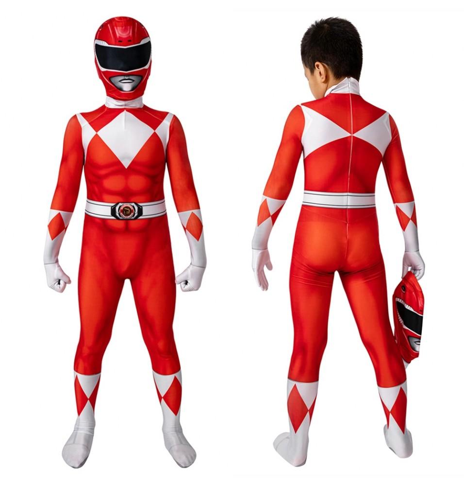 Power Rangers Jason Red Ranger Kids 3D Jumpsuit