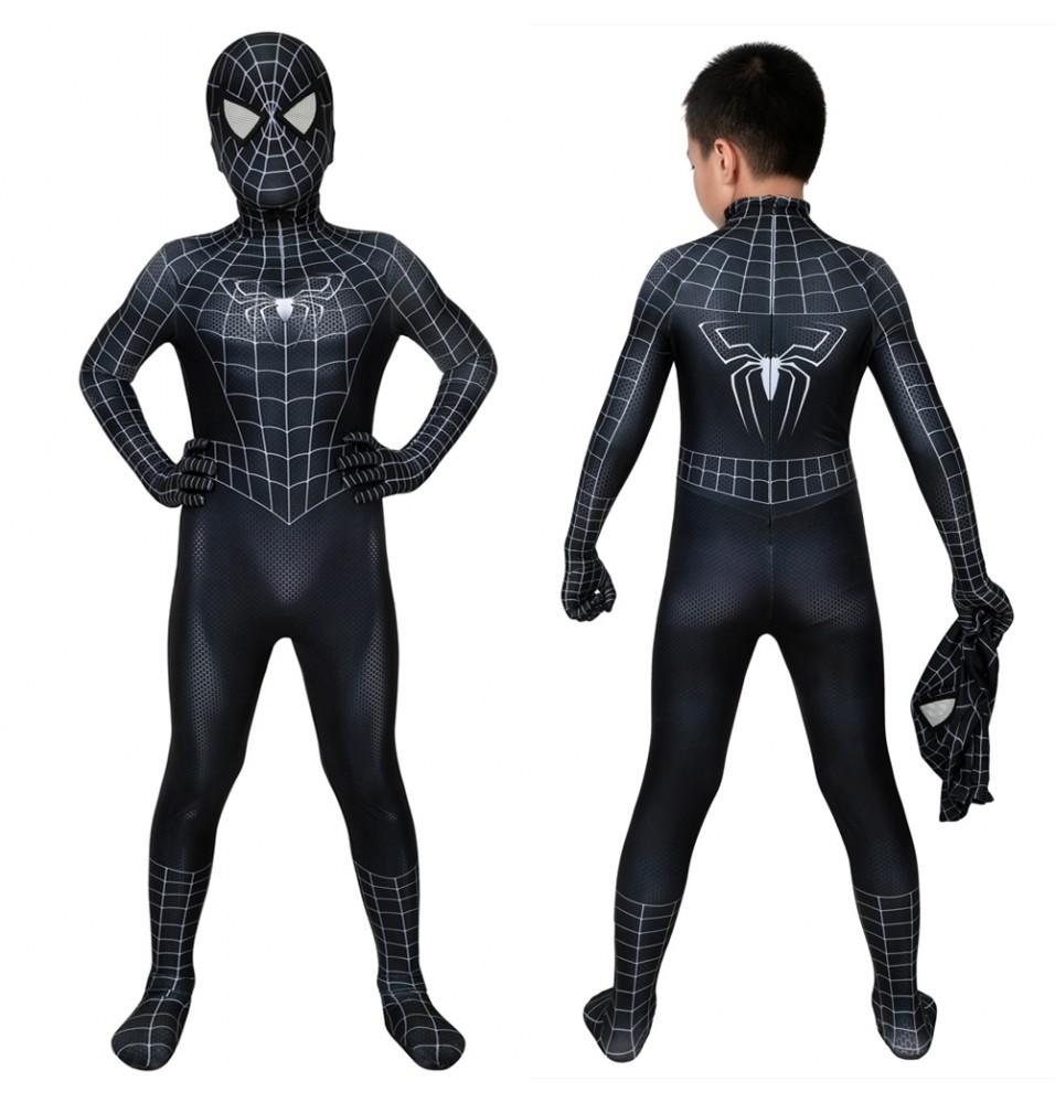 Spider-Man 3 Eddie Brock Venom Kids 3D Jumpsuit