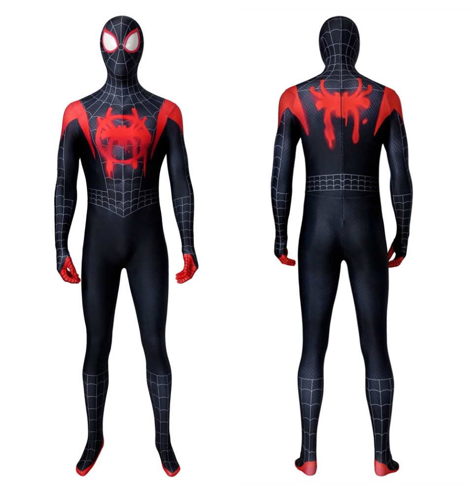 Spider-Man Into the Spider-Verse Miles Morales 3D Jumpsuit Zentai