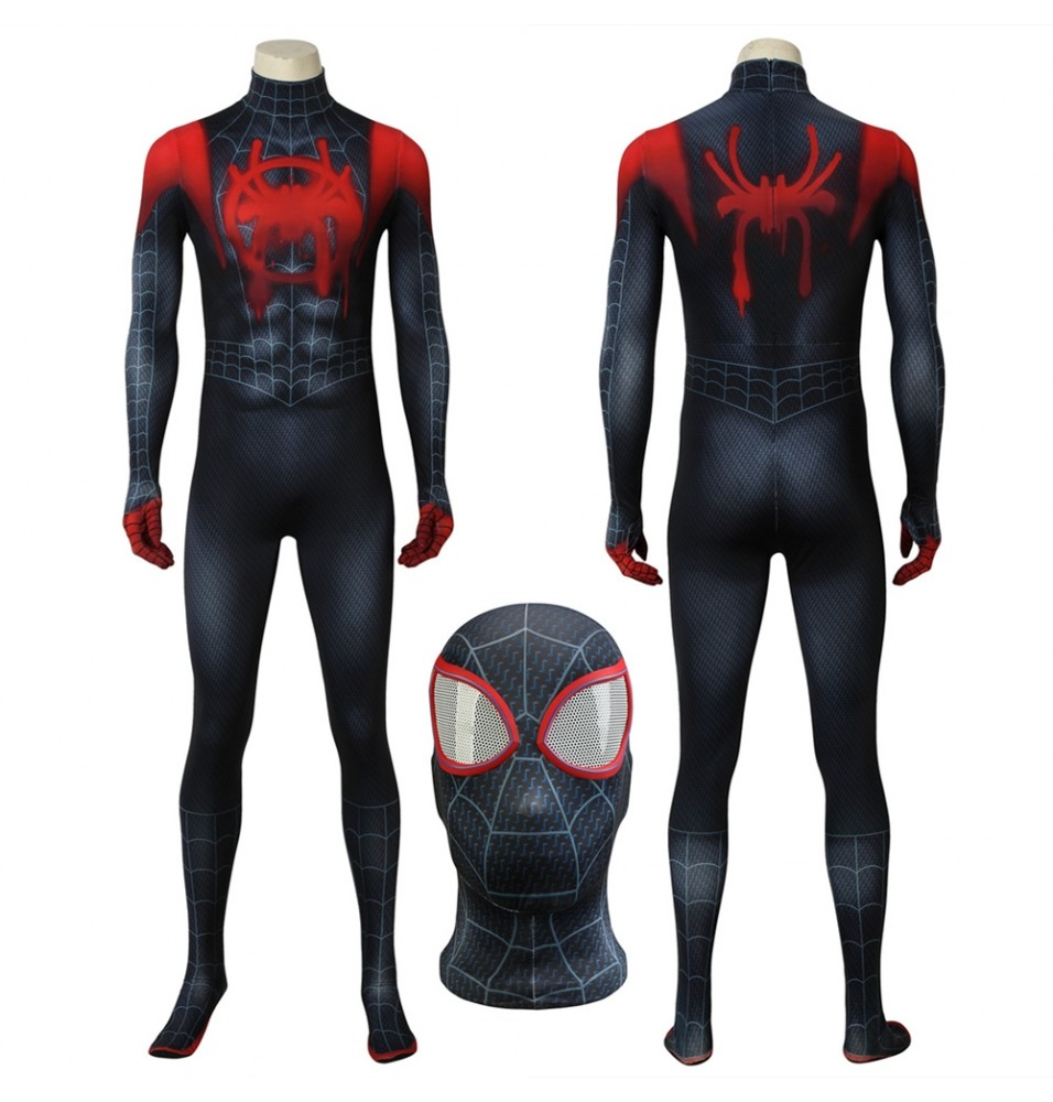 Spider-Man Into the Spider-Verse Miles Morales 3D Zentai Jumpsuit