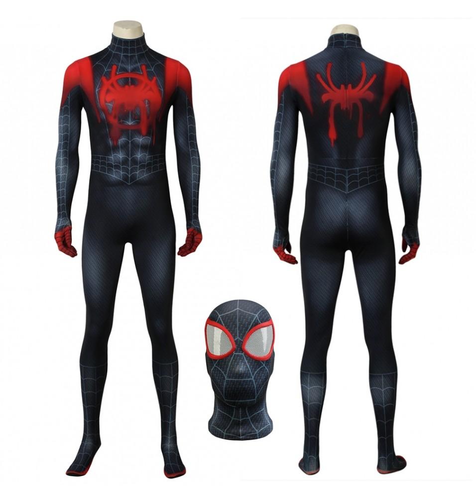 Spider-Man Into the Spider-Verse Miles Morales 3D Zentai Jumpsuit