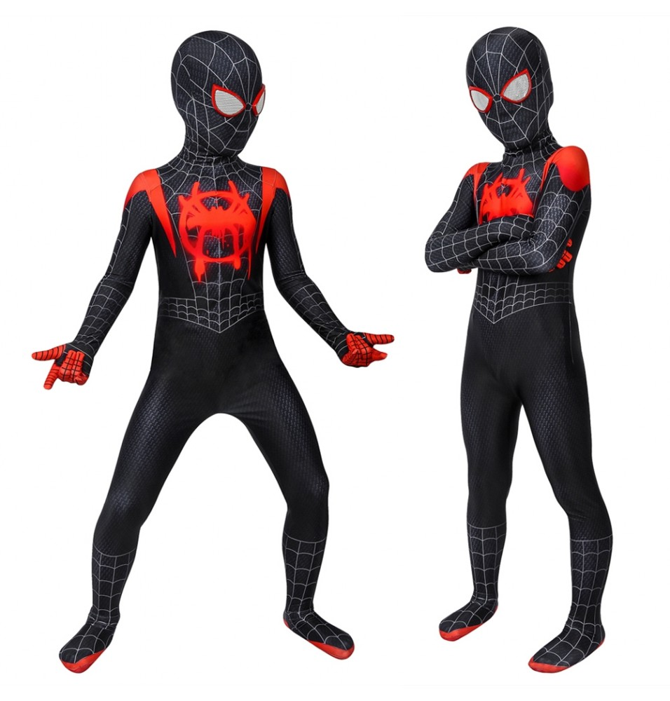 Spider-Man: Into the Spider-Verse Miles Morales Kids 3D Zentai