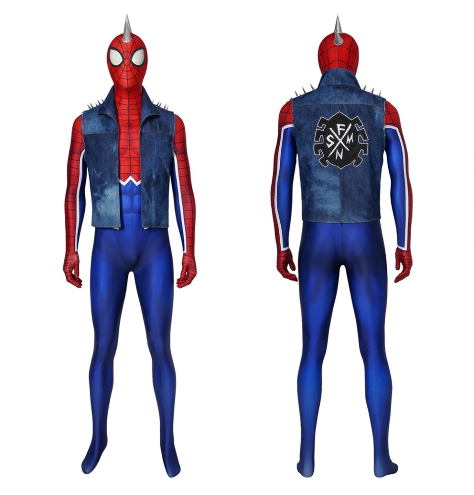 Spider-Man PS4 Spider-Punk 3D Jumpsuit Zentai