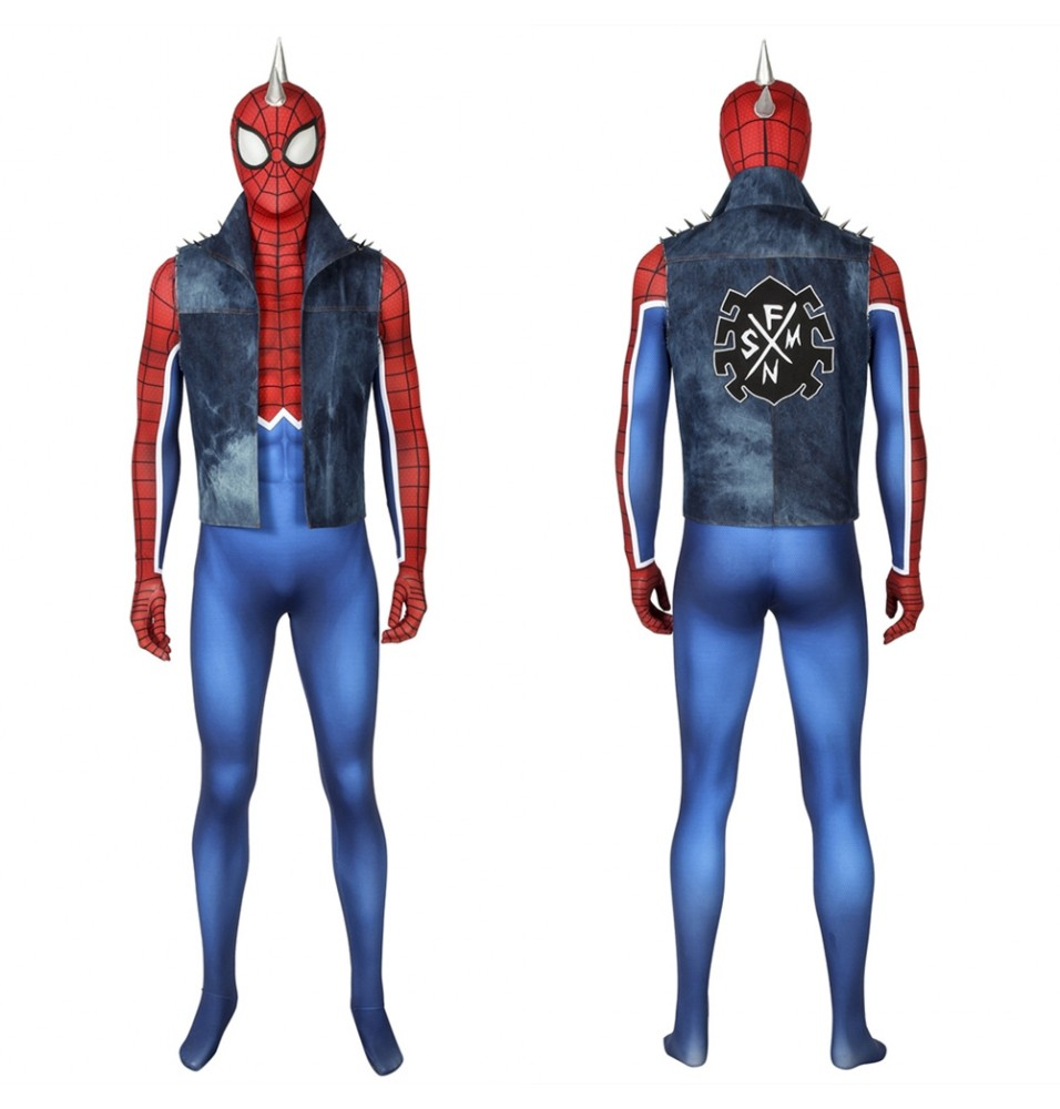 Spider-Man PS4 Spider-Punk 3D Zentai Jumpsuit