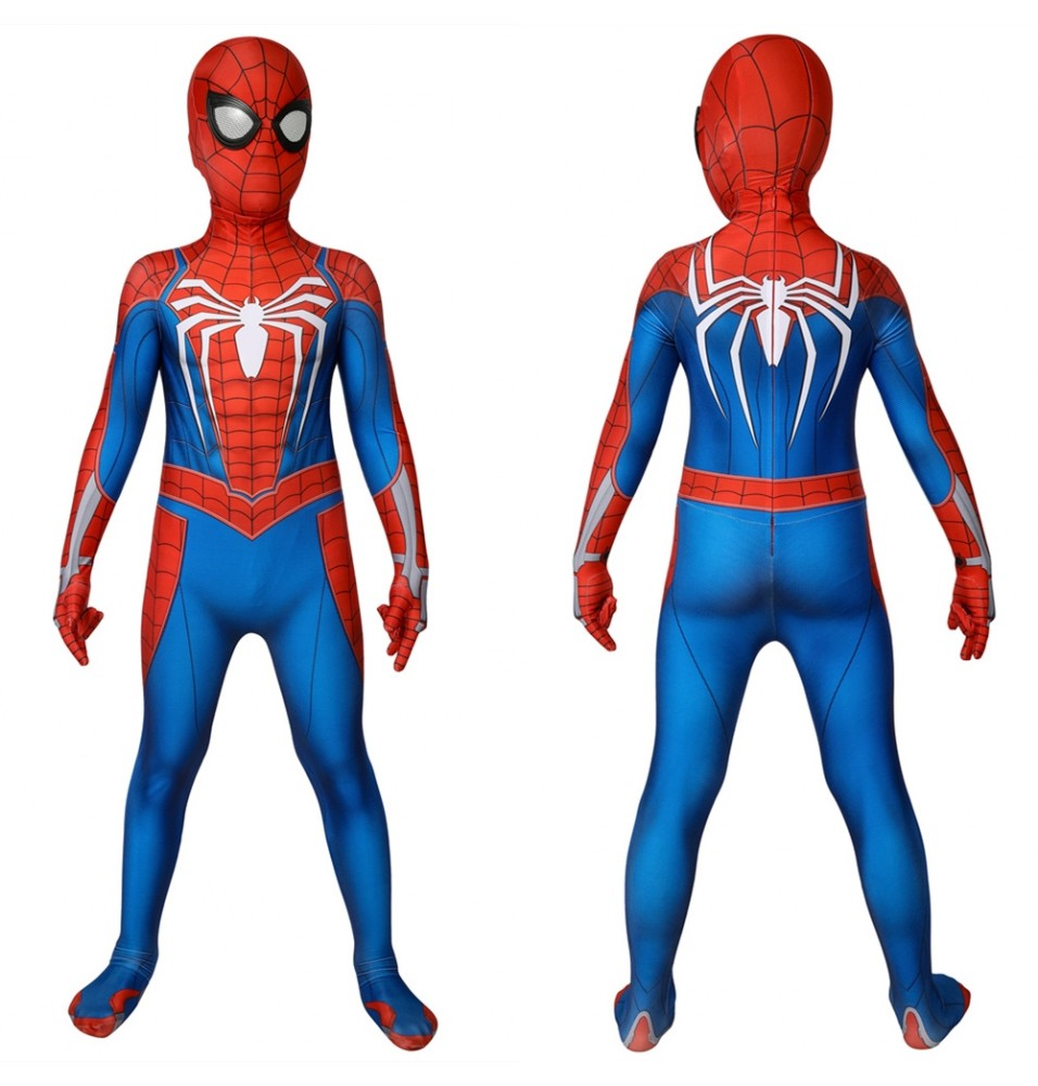 Spider-Man PS4 Spiderman Kids 3D Zentai Jumpsuit