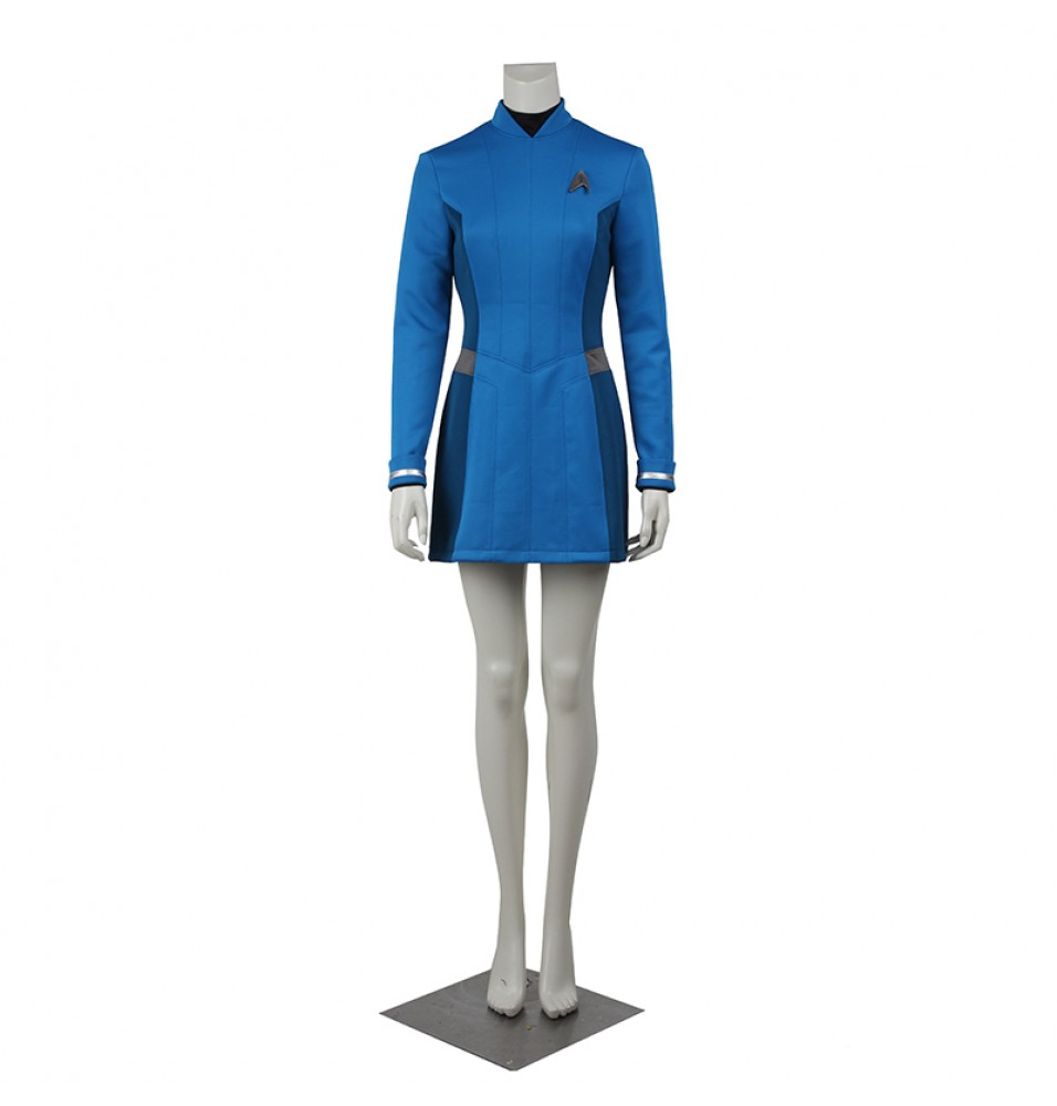 Star Trek Beyond Carol Marcus Blue Dress Cosplay Costume Uniform