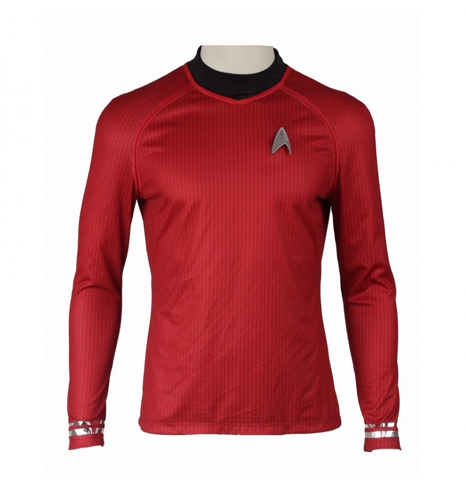 Star Trek Into Darkness Montgomery Scott Scotty Red Uniform Costume