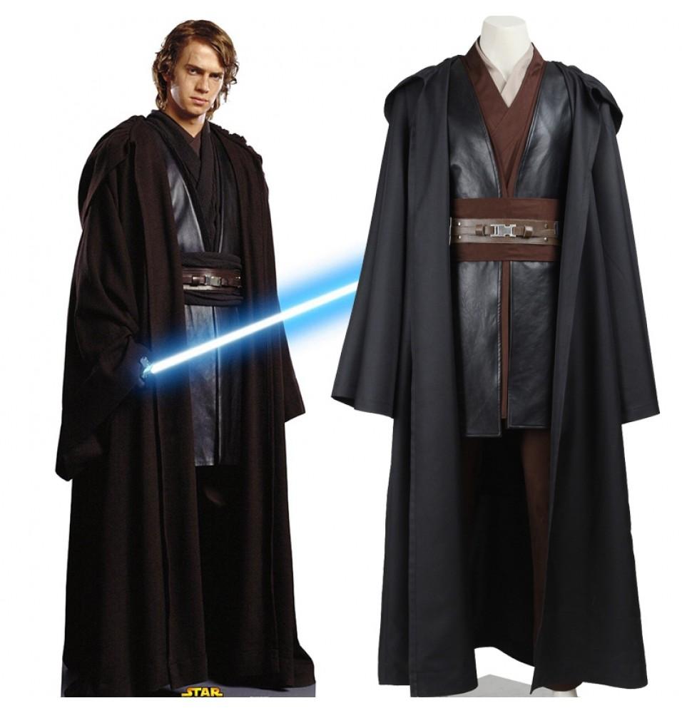 Star Wars II Attack of the Clones Anakin Skywalker Cosplay Costume