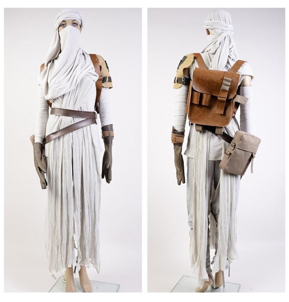 Star Wars The Force Awakens Rey Cosplay Costume Deluxe Version