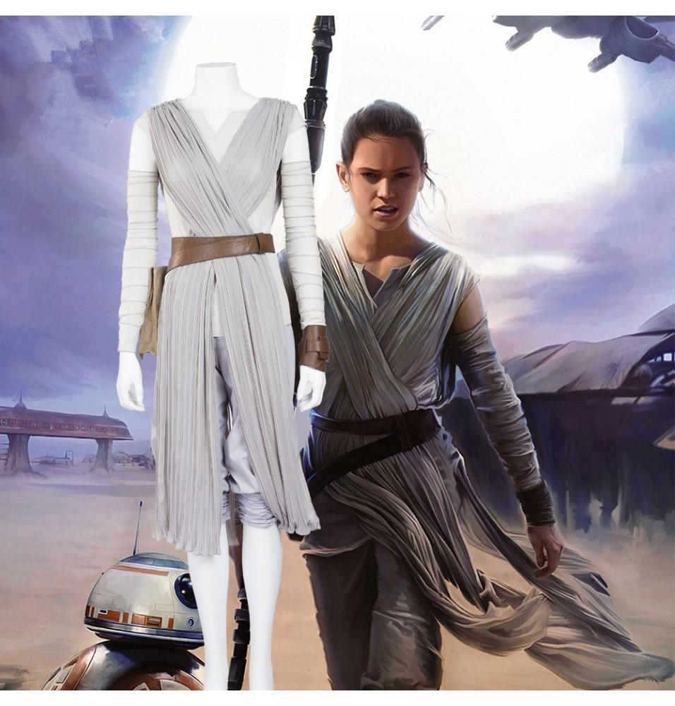 Star Wars The Force Awakens Rey Cosplay Costume Deluxe
