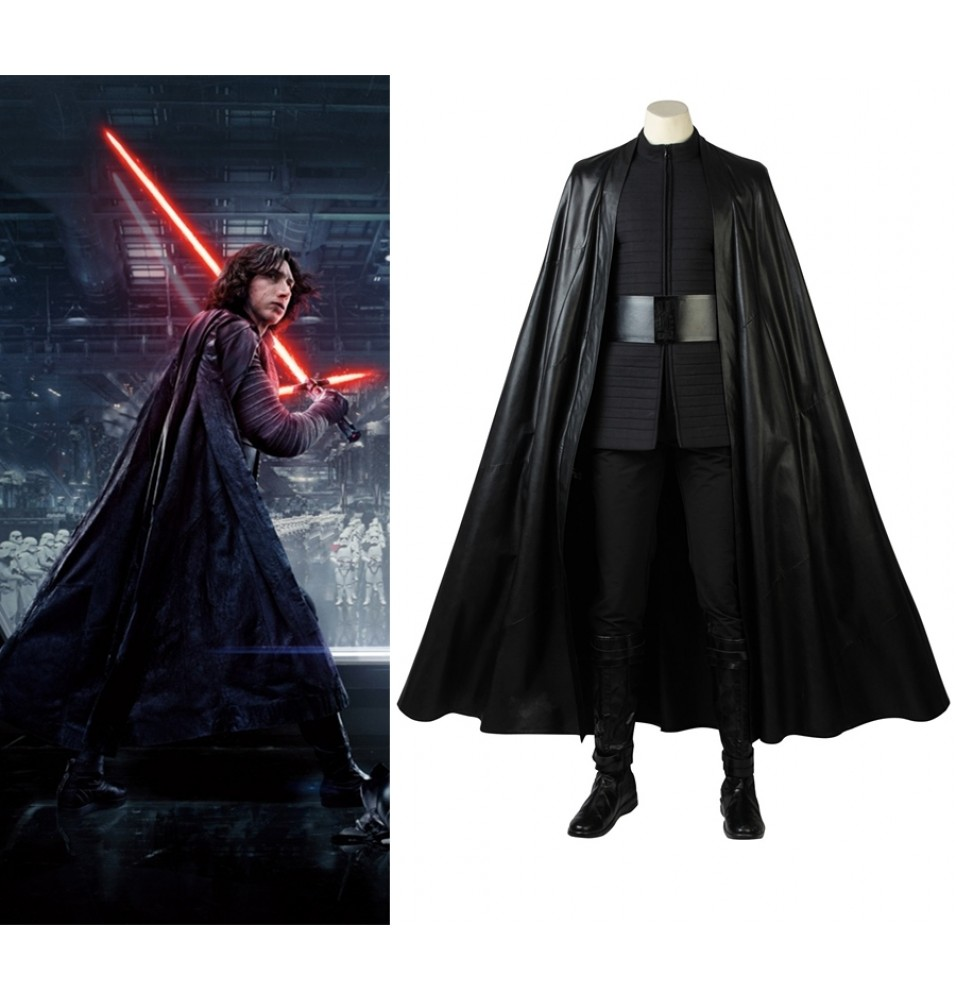 Star Wars The Last Jedi Kylo Ren Cosplay Costume Deluxe Outfit