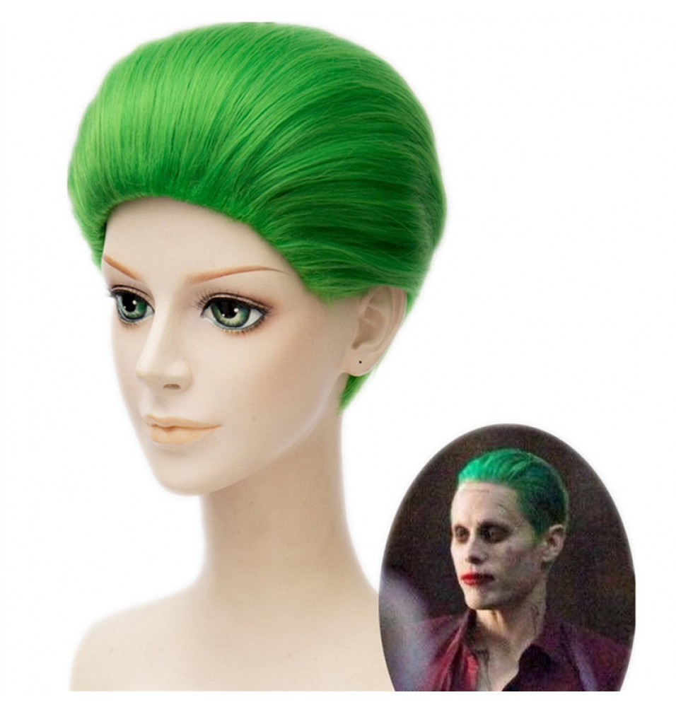 Suicide Squad Joker Clown Jared Leto Green Short Hair Wigs Cosplay
