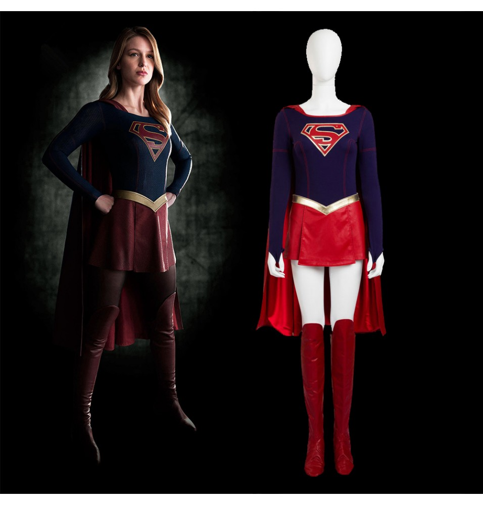 Supergirl Cosplay Costume Deluxe Version