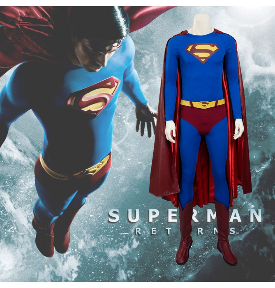 Superman Returns Cosplay Superman Cosplay Costume - Deluxe Version