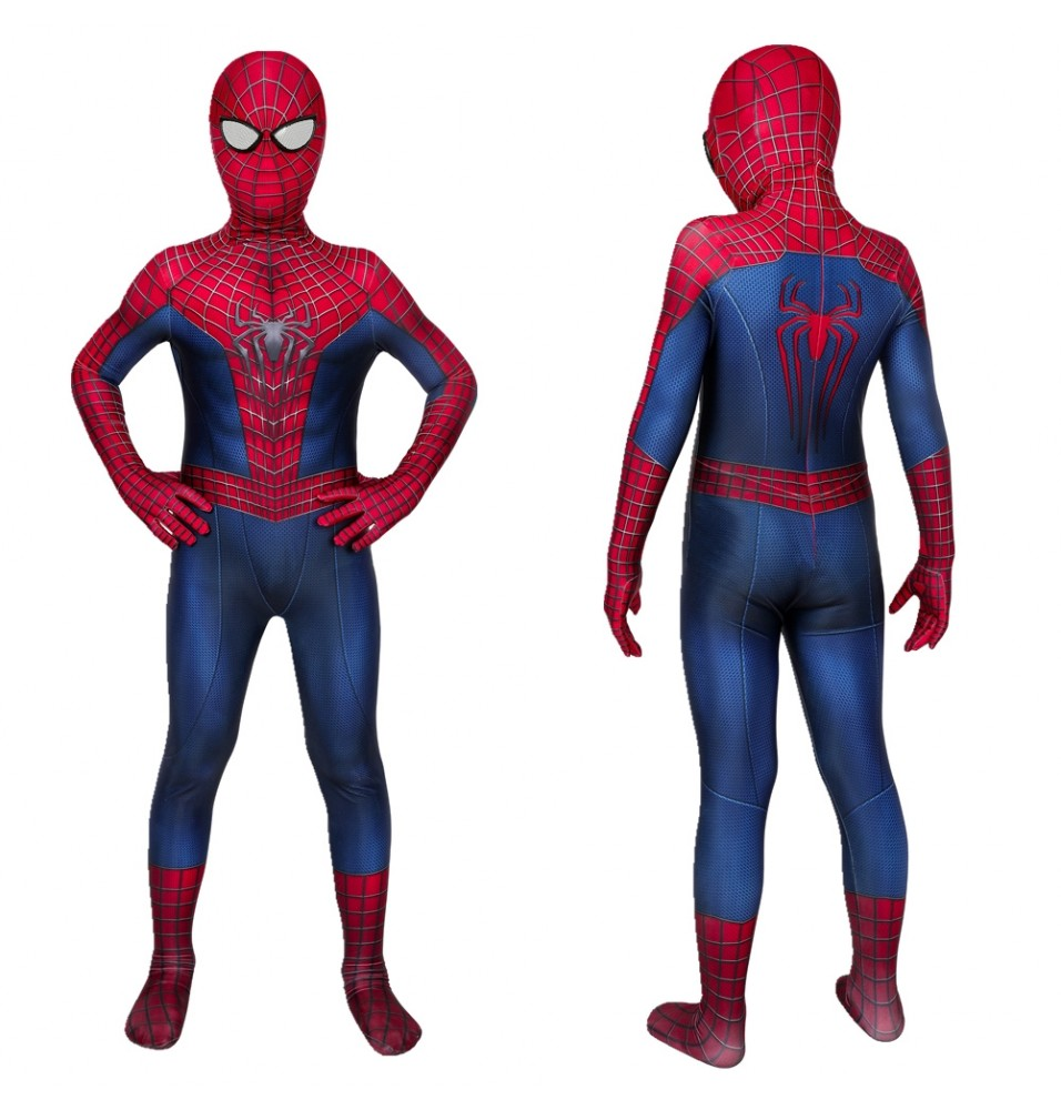 The Amazing Spider-Man Spiderman Peter Parker Kids 3D Zentai Jumpsuit