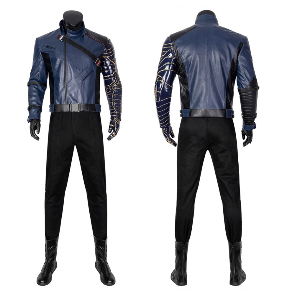 The Falcon and the Winter Soldier Bucky Barnes Suit Cosplay Costume