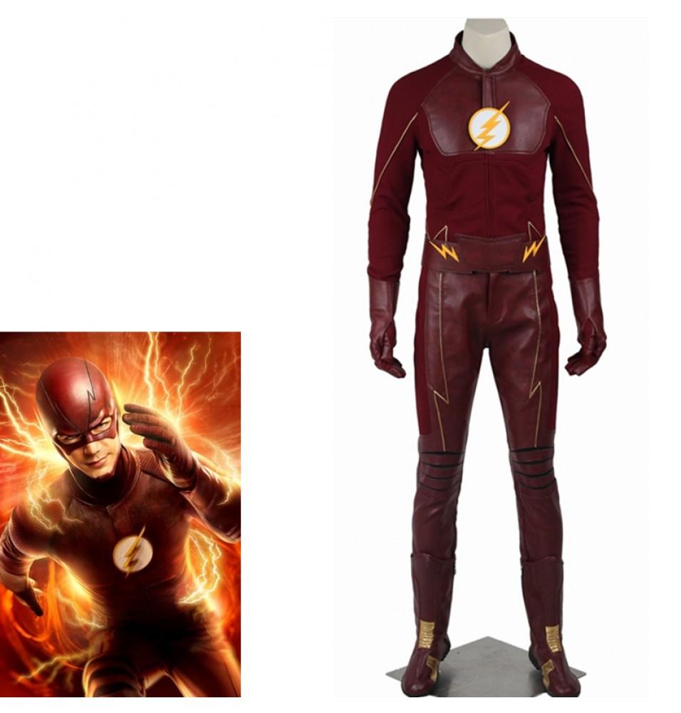 The Flash Season 2 Bartholomew Henry Barry Allen Cosplay Costume