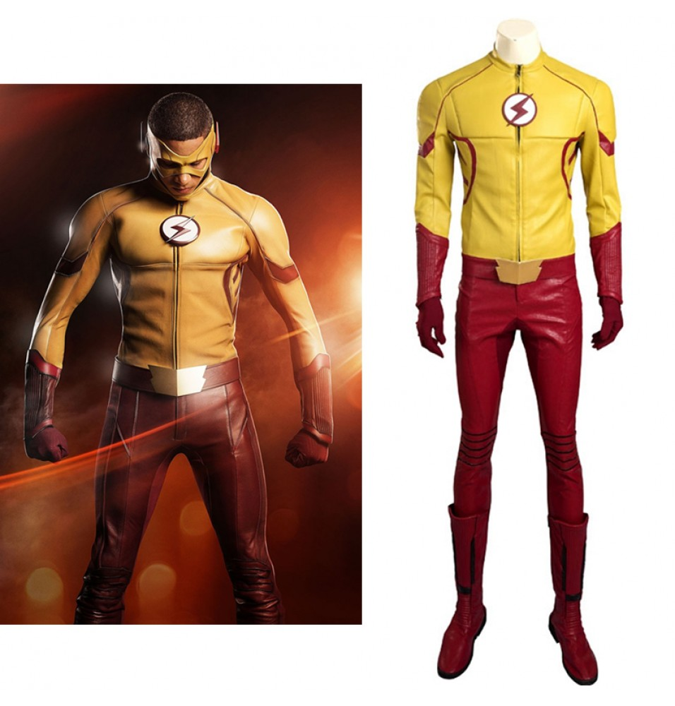 The Flash Season 3 Kid Flash Wallace Rudolph Wally West Cosplay Costume