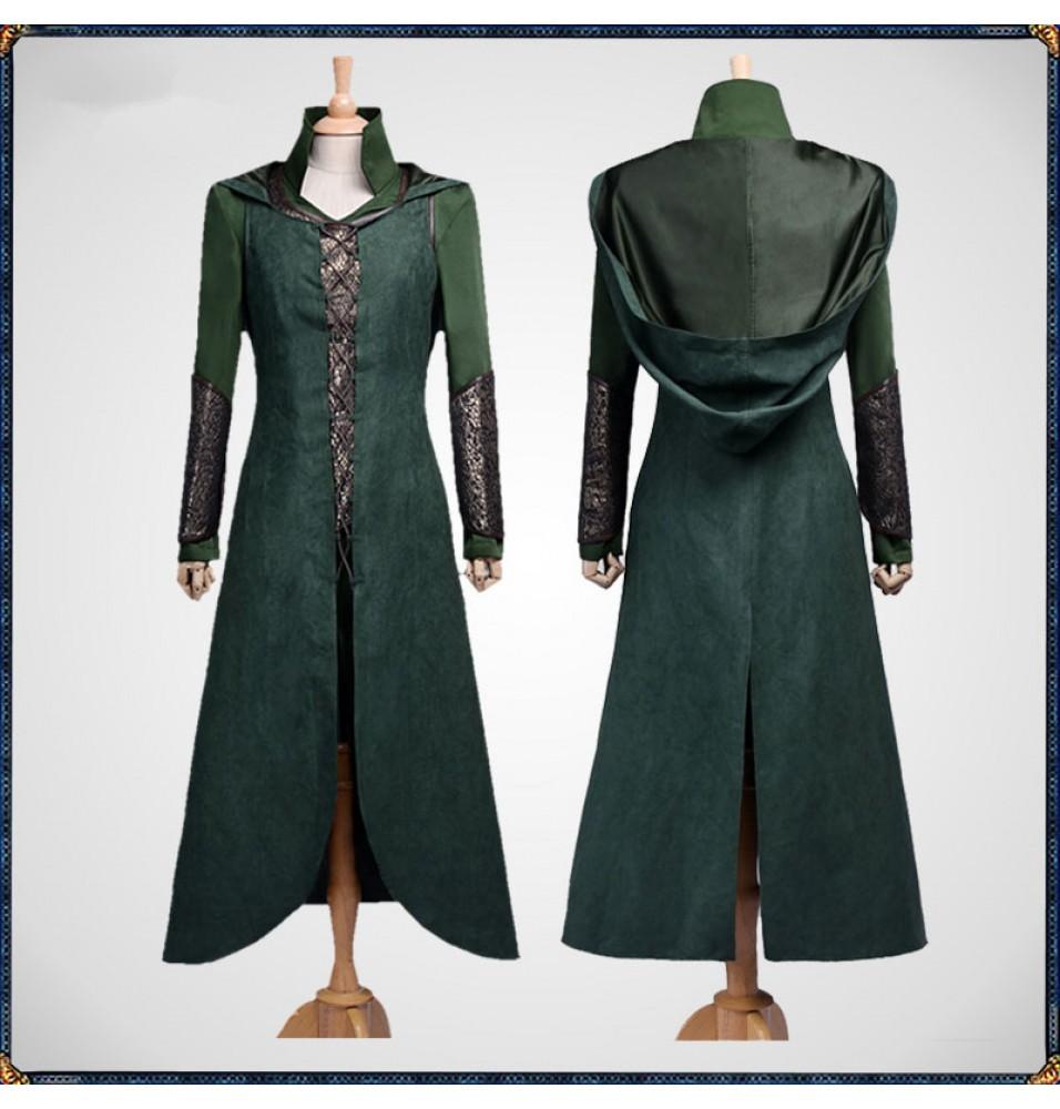The Hobbit Tauriel Cloak Dress Cosplay Costumes
