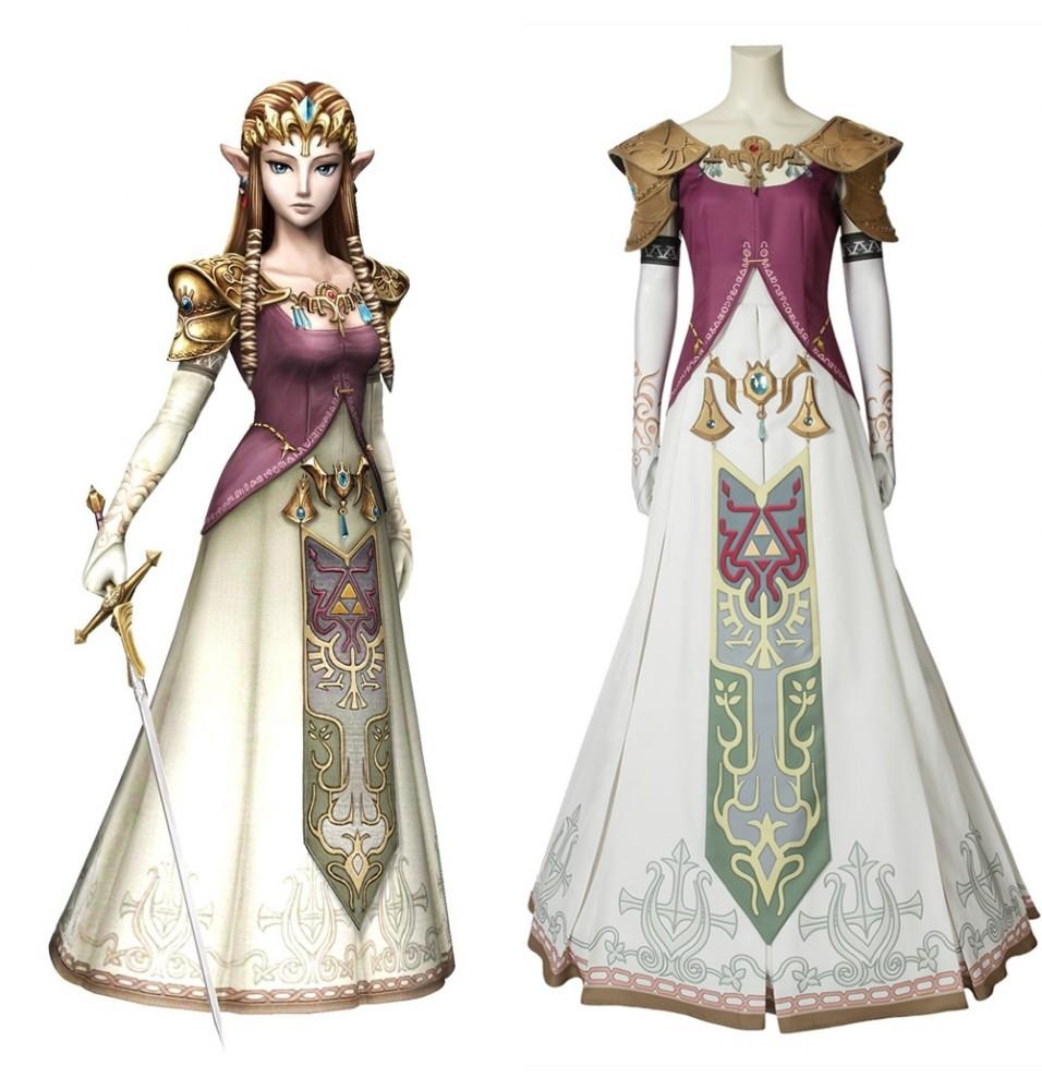 The Legend of Zelda Twilight Princess Zelda Cosplay Costume
