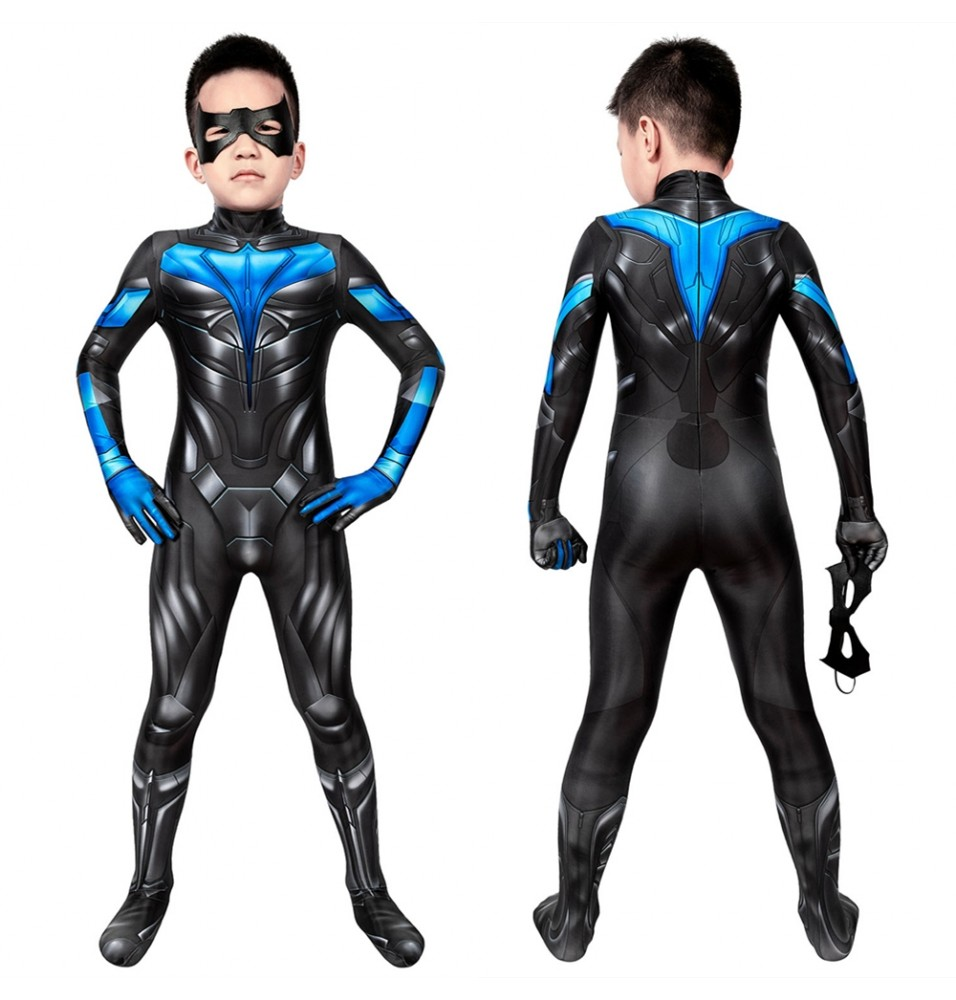 TV Titans Nightwing Kids 3D Jumpsuit