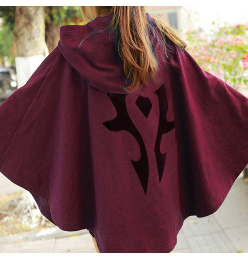World Of Warcraft The Horde Logo Tribal Cloak Cosplay