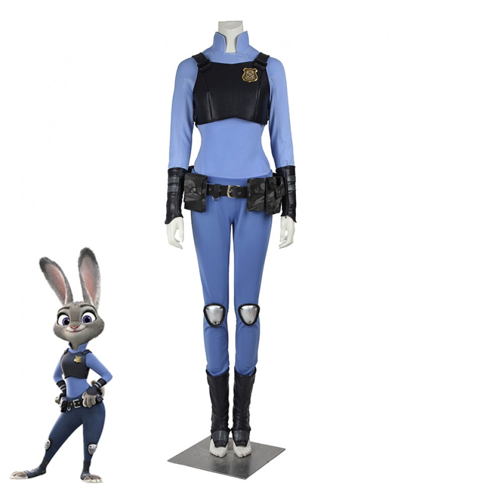Disney Zootopia Officer Judy Hopps Cosplay Costume Uniform